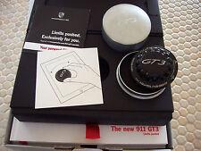 PORSCHE 911 991 GT3 BOXED PRESTIGE SALES BROCHURE HUB CAP 2013 USA EDITION RARE