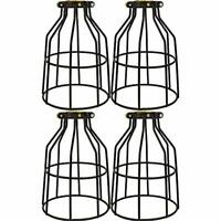 4x Metal Bulb Guard Wire Cage Pendant Lamp Shades Ceiling Light Cover Industrial