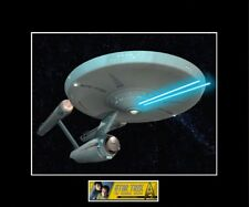 "Star Trek 8""x10"" Uss Enterprise Firing Phasers Picture - 11""x14"" Black Matted"
