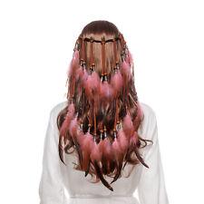 Boho Hippie Feathers Headband Tribal Hairband Carnival Costume Hair Accessories