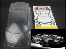 RC lamborghini Clear Body Fits HPI RS4 Flux GT3 Drift HSP Tamiya On road 1/10