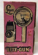 "Vintage LOGAN MOVIE ""LITE-GUN"" Lamp SWIVELS Retro Fully Tested"