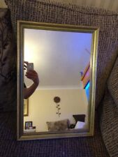 Vintage Mirror In Gold Ornate Wooden Frame
