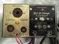 Vintage Test-O-Charge Electrotone Vacuum Tube Tester/Battery Charger, Works!