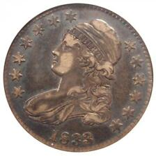 1833 Capped Bust Half Dollar 50C - ANACS XF40 (EF40) PQ - Rare Certified Coin!