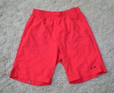 Men's Oakley Mens L Coral RED Gym Athletic Active  Performance Fit Shorts