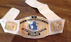 TOY WWE INTERCONTINENTAL CHAMPION WORLD HEAVYWEIGHT WRESTLING BELT ROLLINS Miz