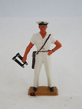 Figurine Vintage Militaire Starlux Marin Capitaine avec jumelles Marine France