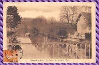 Carte Postale - Nogent le Roi - une vue sur les Bords de l'Eure ( Moulin )