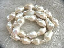 "freshwater pearl AA reborn keshi baroque white nature 15"" wholesale bead nature"