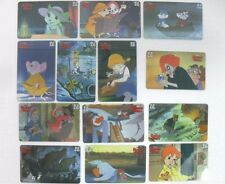 """""""BIANCA e BERNIE""""-DISNEY-serie di 13 carte internazionali-SEPA TELEPHONIQUE"""