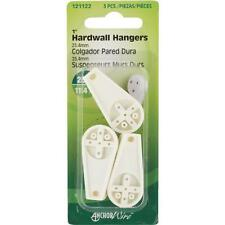 100 Pk Hillman Anchor Wire White Nylon 25# Capacity Hardwall Hanger 3/Pk 121122