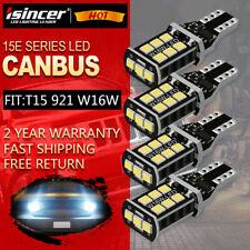 4PCS T15 921 912 LED Reverse Backup Light Bulb White for Chevrolet Ford CANBUS
