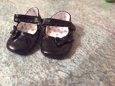 Girls Mothercare black shoes size infant 2