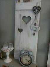 ♥Shabby Fensterladen ♥Klappladen mit Herzen Holz weiss-patiniert ♥Landhaus Deko