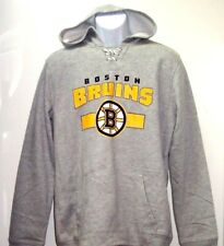 Youth Large Boston Bruins NHL Line Changer Classic Gray Hooded Sweatshirt