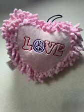 Zanies Pink Heart Squeak Dog Toy