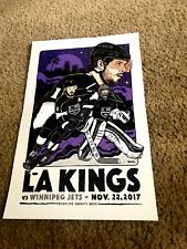 Jon Quick,Anze Kopitar,Drew Doughty Los Angeles Kings Poster from 11/22/2017