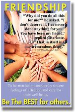 New Motivational Classroom Poster - Friendship - Be the Best for Others