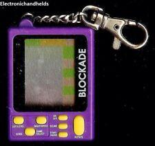 MGA BLOCKADE ELECTRONIC HANDHELD KEY CHAIN MINI GAME TRAVEL SMALL KEY RING BLOCK