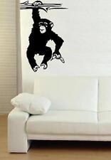 Affe Schimpanse Wandtattoo ,  Monkey in 2 versch. Größen
