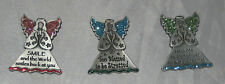 ANGELS Clips Glitter Accents Pewter Study Buddies for Notebooks Christmas