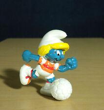 Smurfette Soccer Player 1983 Vintage Smurf Figure PVC Smurfs Toy Figurine 20163