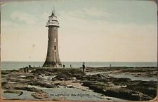Uk Postcard The Lighthouse at New Brighton East Sussex England 1912 Jv56878