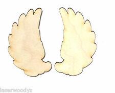 Angel Wings (2 Pcs) Unfinished Wood Shape AW8730 Crafts Lindahl Woodcrafts