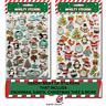 CHRISTMAS FOAM STICKERS KIDS Santa Card Making Shapes Crafts Gift Tag G3184 UK