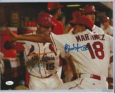 St. Louis Cardinals Carlos Martinez/Randal Grichuk Dual Signed 11x14 Photo JSA