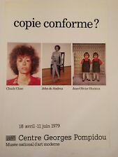 AFFICHE POMPIDOU COPIE CONFORME 1979 HUCLEUX CLOSE DE ANDREA