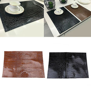 Faux Leather Insulation Placemats OR Drinks Modern Reversible Various Colours HD