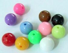 200 Stück 4-5mm Acryperlen Opake Acryl Perlen Mix Bunt 1374