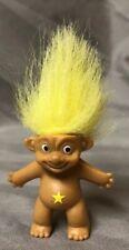 Russ Pencil Topper Troll Yellow Hair & Yellow Star 1 1/2� Tall