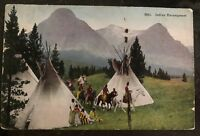 1922 Albuquerque NM USA Picture Postcard Native American Indian cover Encampment