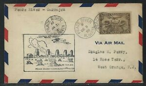 1931 Canada #C1 First Flight Cover - Peace River, AB to Carcajou, AB