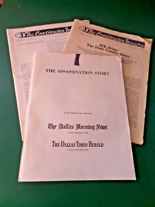 THE ASSASSINATION STORY Dallas Morning News & Dallas Times Herald J F KENNEDY