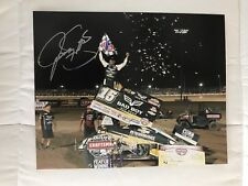 Donny Schatz Signed 8x10 Photo WoO Sprint Car Legend