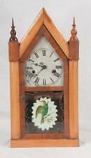 """American steeple clock by """"W.S. Johnson, Ny, 10"""" wide, 20"""" high Lot 285"""