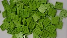 Lego lime plate 2x2(3022),50 parts