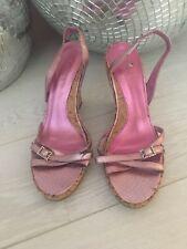 Metallic Pink Wedge Heels