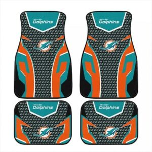 2021 Miami Dolphins Car Front/Rear Floor Rugs Universal Car Floor Mats 2/4 PCS