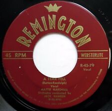 NEW NOTES 45 Why Do Fools Fall In Love / A Tear Fell REMINGTON Pop e6265