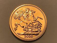 More details for 2020 full gold sovereign queen elizabeth ii. 5th portrait. nice. unc