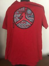 Nike Jordan Red Short Sleeve Tee T-Shirt Crew Neck Men's Size 2XL Jumpman Cotton