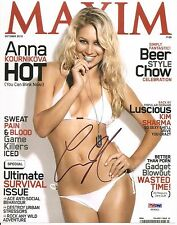 Anna Kournikova Sexy Signed Auto Maxim Magazine Cover 8x10 PHOTO PSA/DNA COA