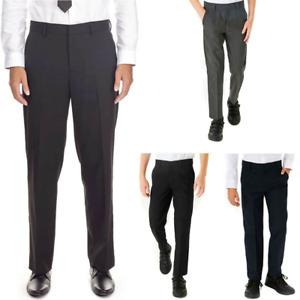 Boys School Trouser Regular Fit Uniform Adjustable Waist Size
