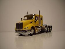"""DCP FIRST GEAR 1/64 YELLOW TRI-AXLE PETERBILT 579 WITH 44"""" SLEEPER"""