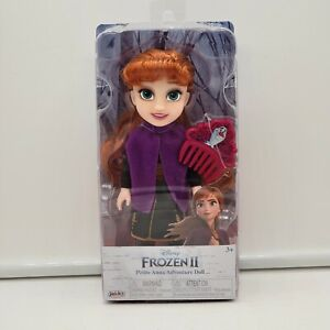 Disney FROZEN 2 Petite ANNA Adventure Doll w/ Mini Comb - Princess Collectible!